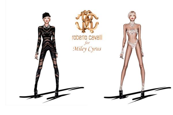 c59b172596dbe Roberto Cavalli assina looks da turnê de Miley Cyrus. O estilista Roberto  Cavalli divulgou ...